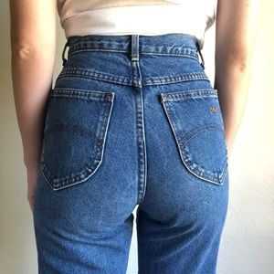 VINTAGE | CHIC classic high waisted denim jeans